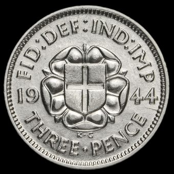 1944 George VI Silver Threepence Reverse