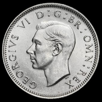 1946 George VI Silver Scottish Shilling Obverse