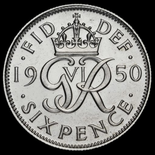 1950 George VI Proof Sixpence Reverse