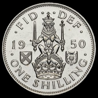 1950 George VI Proof Scottish Shilling Reverse