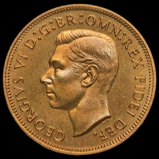 1950 George VI Bronze Proof Halfpenny Obverse