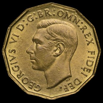 1952 George VI Brass Threepence Obverse