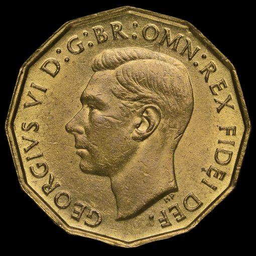 1952 George VI Brass Threepence Obverse