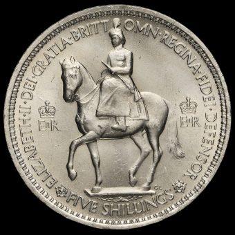 1953 Queen Elizabeth II Coronation Crown Obverse