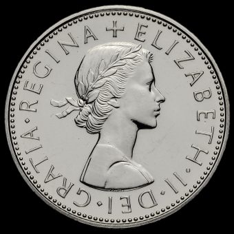 1970 Elizabeth II Proof Two Shilling Coin / Florin Obverse