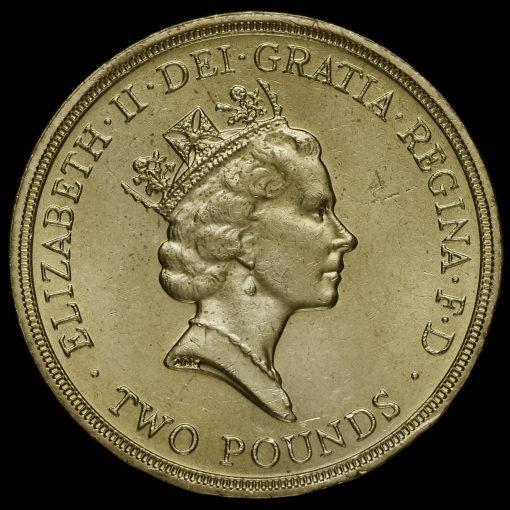 1986 Elizabeth II £2 Coin Obverse