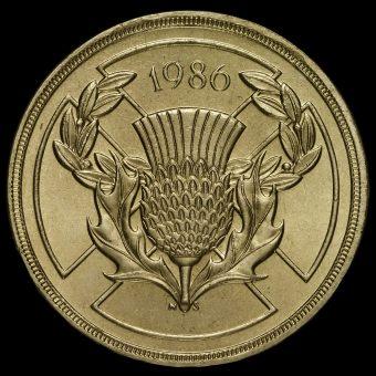 1986 Elizabeth II £2 Coin Reverse