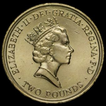 1989 Elizabeth II £2 Coin Obverse