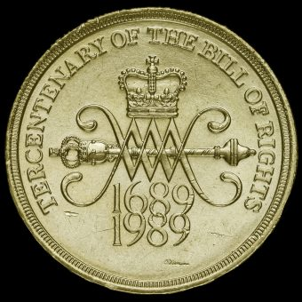 1989 Elizabeth II £2 Coin Tercentenary of The Bill Of Rights Reverse
