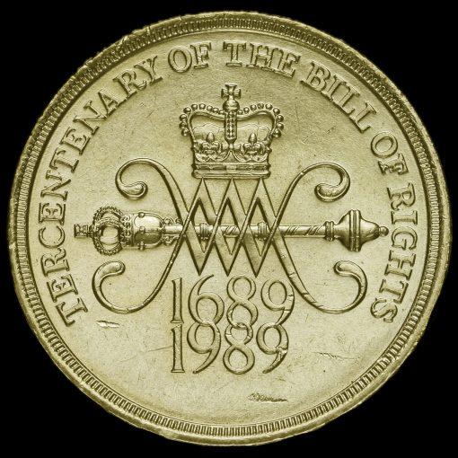 1989 Elizabeth II £2 Coin Tercentenary of The Bill Of Rights Reverse
