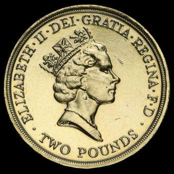 1995 Elizabeth II £2 Coin Obverse