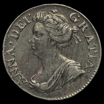1706 Queen Anne Early Milled Silver Maundy Threepence Obverse