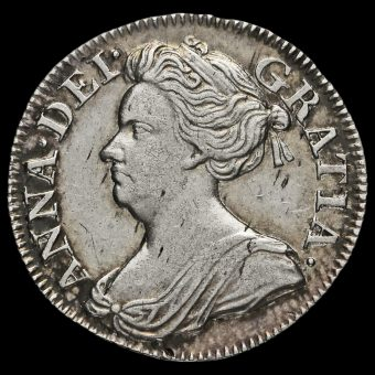 1708 Queen Anne Early Milled Silver Maundy Threepence Obverse