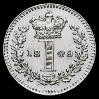 1849 Queen Victoria Young Head Silver Maundy Penny Reverse