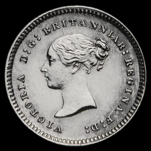 1880 Queen Victoria Young Head Silver Maundy Twopence Obverse
