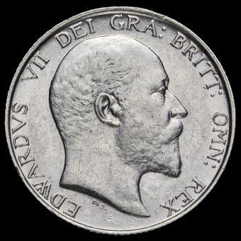 1906 Edward VII Silver Shilling Obverse