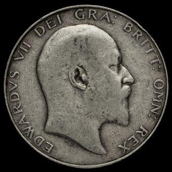1908 Edward VII Silver Half Crown Obverse