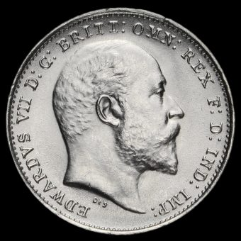 1909 Edward VII Silver Threepence Obverse