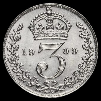 1909 Edward VII Silver Threepence Reverse