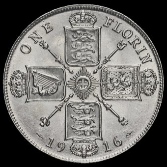 1916 George V Silver Florin Reverse