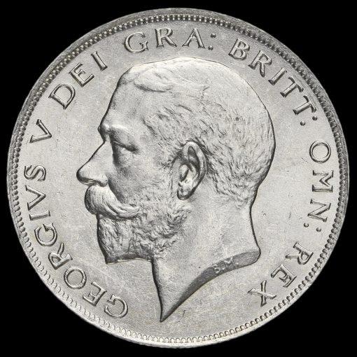1923 George V Silver Half Crown Obverse