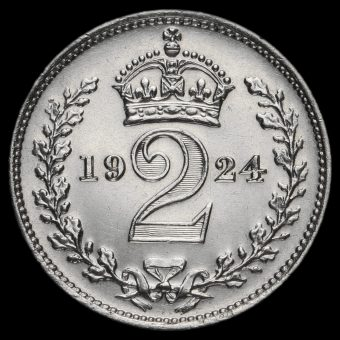 1924 George V Silver Maundy Twopence Reverse