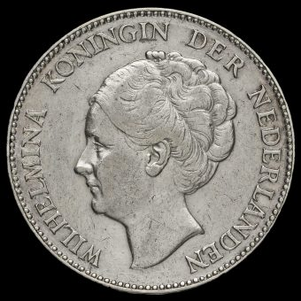 Netherlands 1931 Silver 1 Gulden Obverse