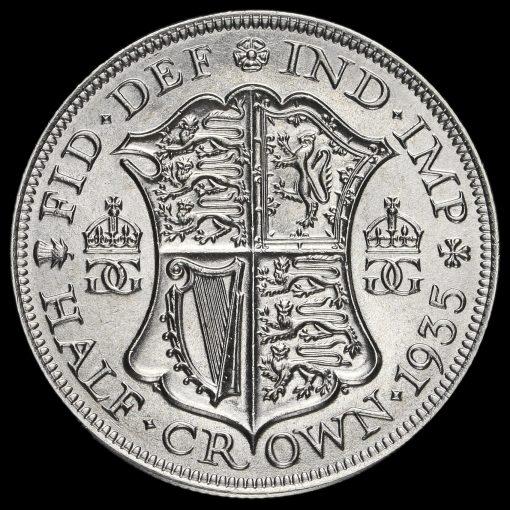 1935 George V Silver Half Crown Reverse