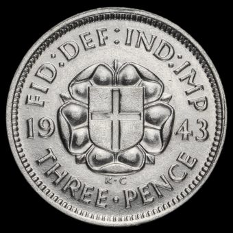 1943 George VI Silver Threepence Reverse