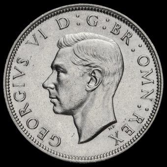 1943 George VI Silver Half Crown Obverse