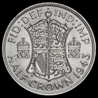 1943 George VI Silver Half Crown Reverse