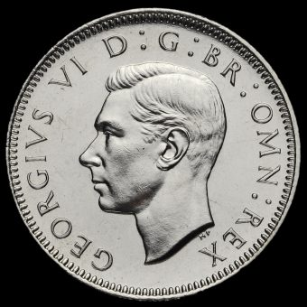 1951 George VI Proof English Shilling Obverse