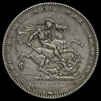 1820 George III Milled Silver LX Crown Reverse
