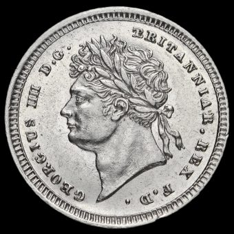 1825 George IV Milled Silver Maundy Twopence Obverse