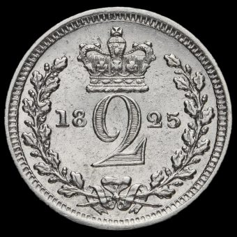 1825 George IV Milled Silver Maundy Twopence Reverse