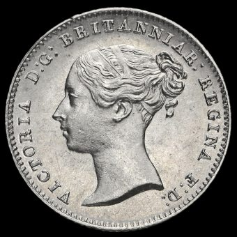 1838 Queen Victoria Young Head Silver Fourpence / Groat Obverse