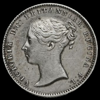 1848/6 Queen Victoria Silver Fourpence / Groat Obverse