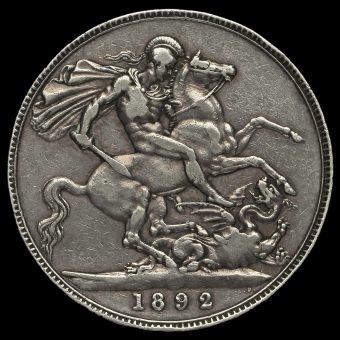 1892 Queen Victoria Jubilee Head Silver Crown Reverse