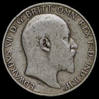 1909 Edward VII Silver Florin Obverse