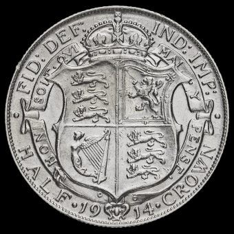 1914 George V Silver Half Crown Reverse
