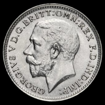 1917 George V Silver Threepence Obverse