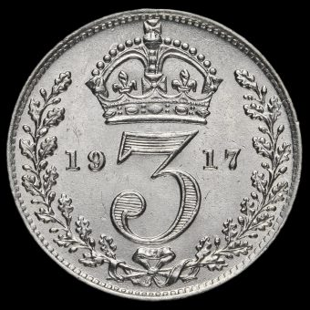 1917 George V Silver Threepence Reverse