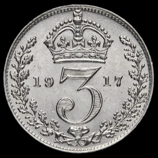 1917 George V Silver Threepence Reverse
