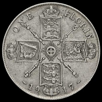 1917 George V Silver Florin Reverse