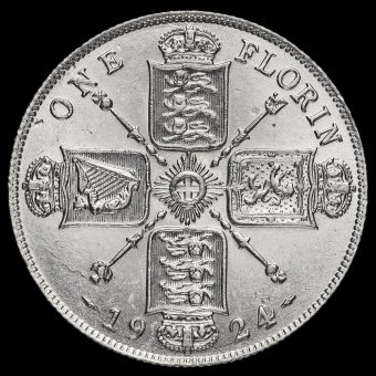 1924 George V Silver Florin Obverse