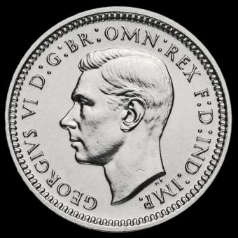 1937 George VI Silver Maundy Threepence Obverse