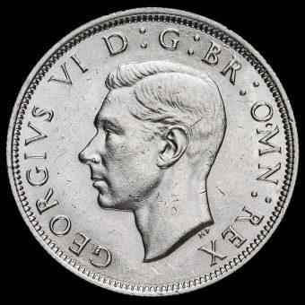 1942 George VI Silver Half Crown Obverse