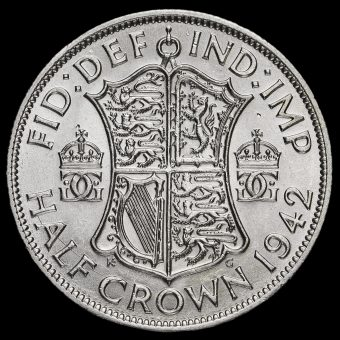 1942 George VI Silver Half Crown Reverse