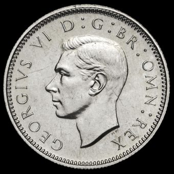 1951 George VI Proof Sixpence Obverse