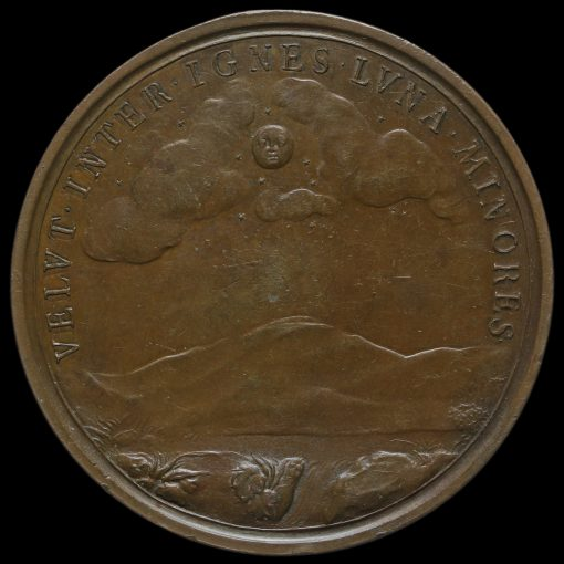 1690 Mary as Regent Large Bronze Medal Reverse